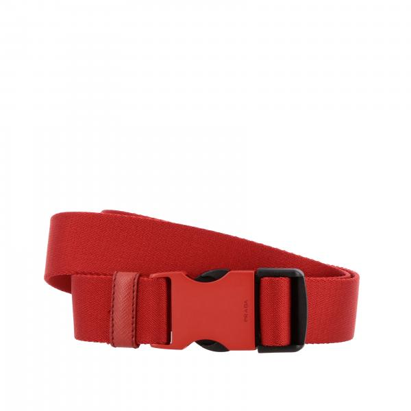 Prada belt with ribbon and buckle