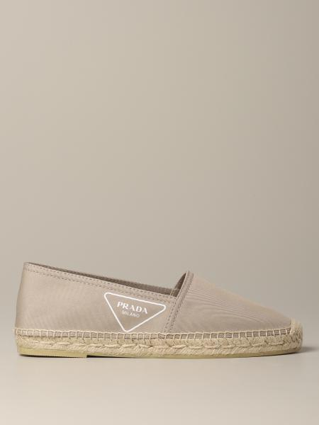 Espadrillas Prada in canvas con logo