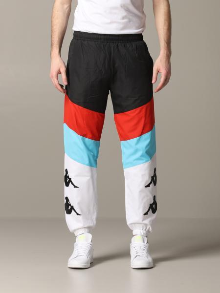 Pantalone Kappa jogging in acetato con logo