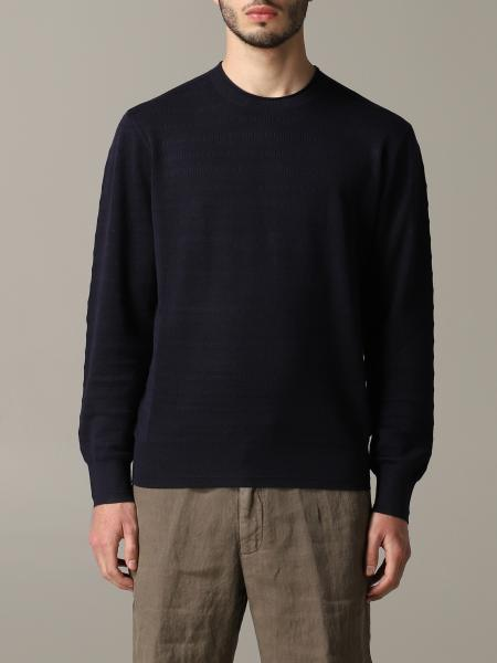 Z Zegna crew-neck sweater in silk and cotton
