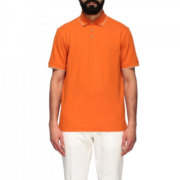Z Zegna short-sleeved polo shirt with logo