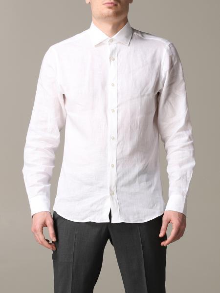 Camicia Z Zegna in lino con collo francese