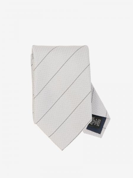 Ermenegildo Zegna tie in diagonal striped silk
