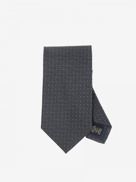 Ermenegildo Zegna micro patterned silk tie