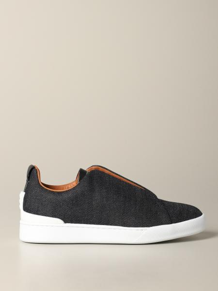 Sneaker triple stich Ermenegildo Zegna in denim