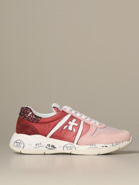 Premiata Layla sneakers in nylon suede and glitter