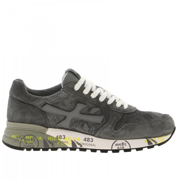 Mick Premiata sneakers in perforated suede with logo