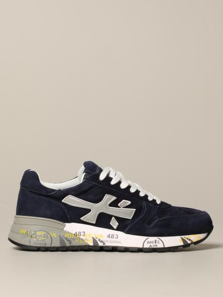 Premiata Mick sneakers in perforated suede with logo