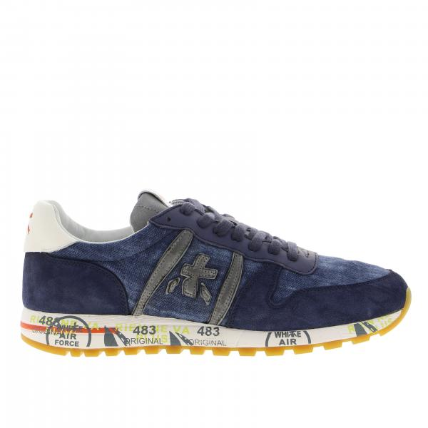 Eric Premiata sneakers in suede and canvas with logo