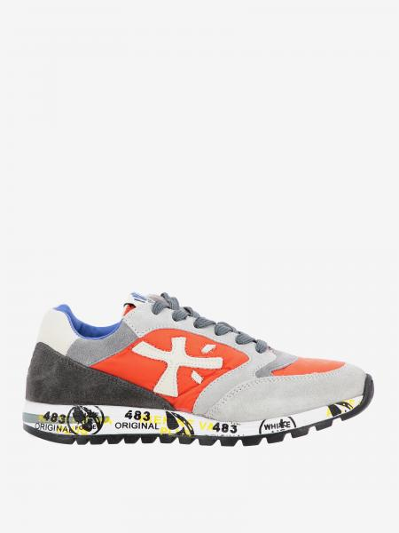 Zac zac Premiata sneakers in suede and leather with logo