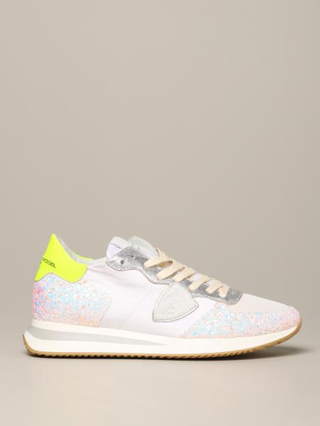 Tropez Philippe Model sneakers in glitter and nylon