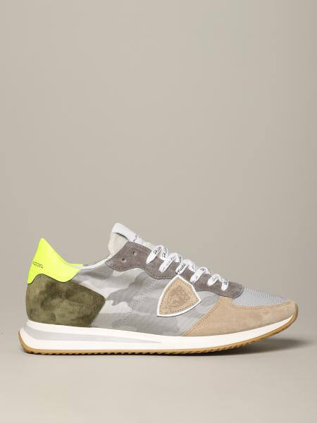Tropez Philippe Model sneakers in suede and camu nylon