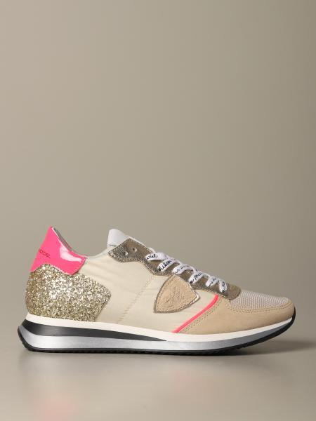 Sneakers Tropez Philippe Model in nylon e pelle laminata