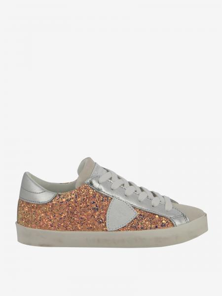 Sneakers Paris Philippe Model in pelle e glitter