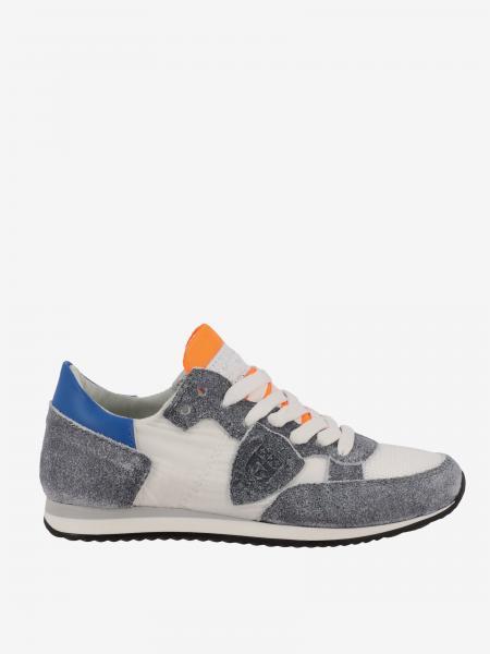 Sneakers Tropez Philippe Model in nylon e camoscio