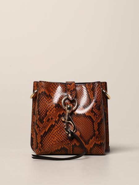 Rebecca Minkoff Megan mini 蟒蛇纹印花真皮手袋