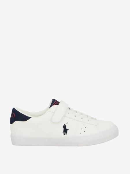 Sneakers Theron ez Polo Ralph Lauren in pelle con logo