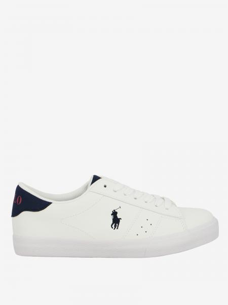 Sneakers Theron Polo Ralph Lauren in pelle con logo