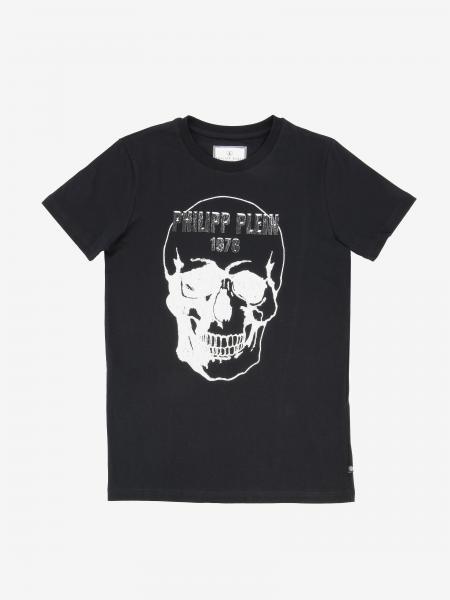 Philipp Plein T-Shirt mit Totenkopf und Strass
