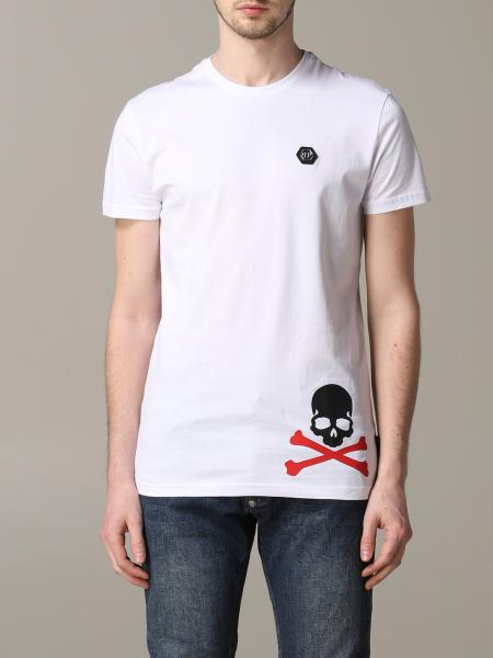 Philipp Plein short-sleeved T-shirt with logo and skull