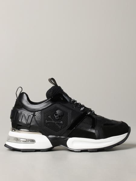 Philipp Plein sneakers in leather and mesh with logo