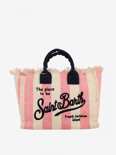Borsa Colette shopping MC2 Saint Barth in canvas a righe