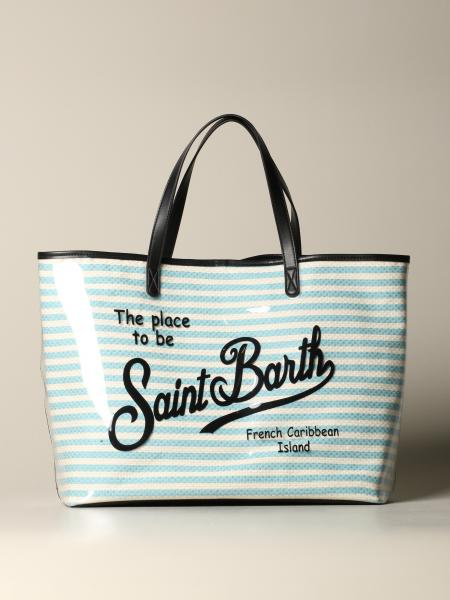 Borsa Las Vegas shopping MC2 Saint Barth con stampa a righe