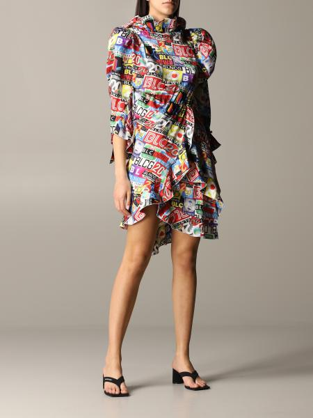 Balenciaga Kleid mit Magazine Print