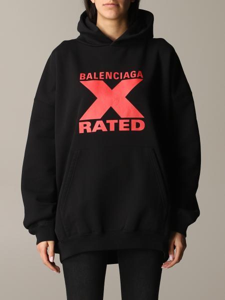 Balenciaga logo x rated 卫衣