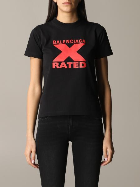 Balenciaga T-Shirt mit x rated Logo