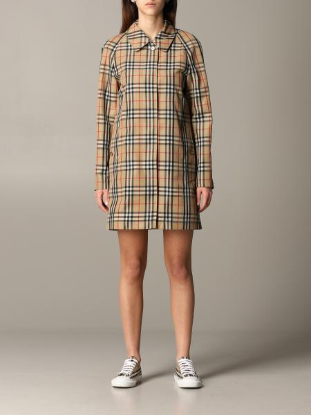 Burberry Keisley check canvas trench coat