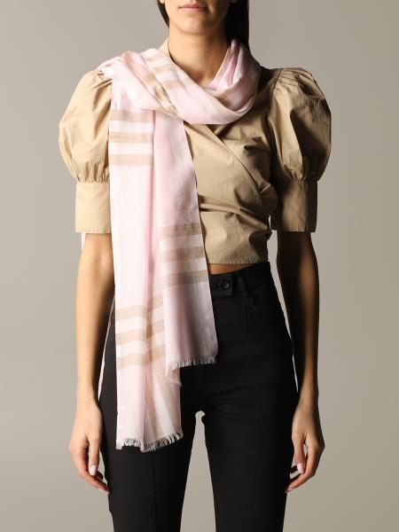 Burberry Gauze novelty scarf in wool and silk check
