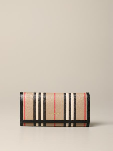 Portefeuille Heron Burberry continental check