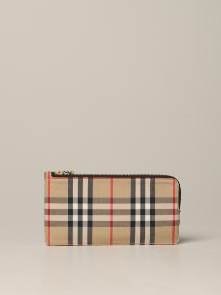 Burberry Raley wallet in check canvas and leather