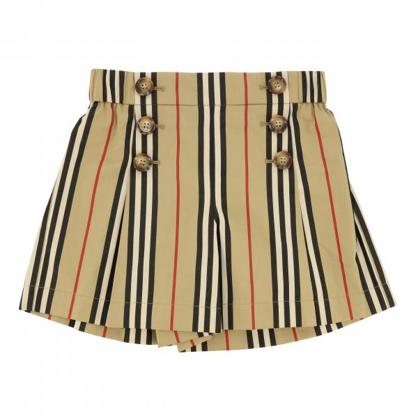 Shorts Burberry a righe vintage