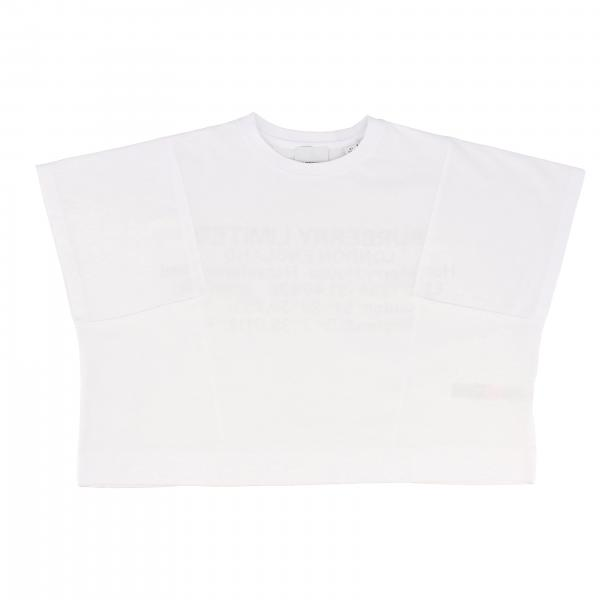 Short-sleeved Burberry t-shirt with rear lettering