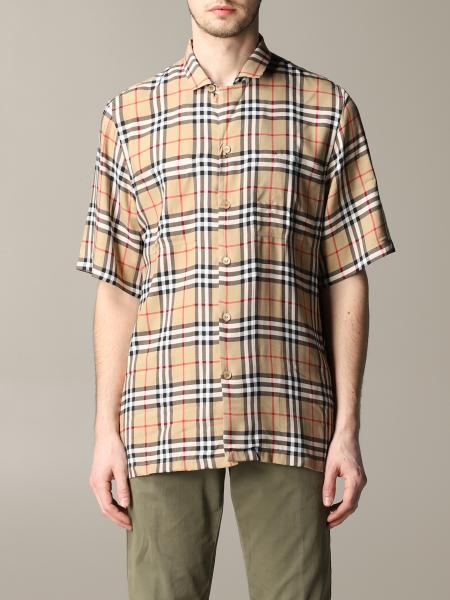 Burberry shirt with short sleeves check
