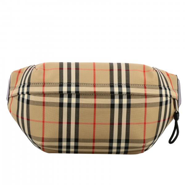 Sac banane Burberry en toile check