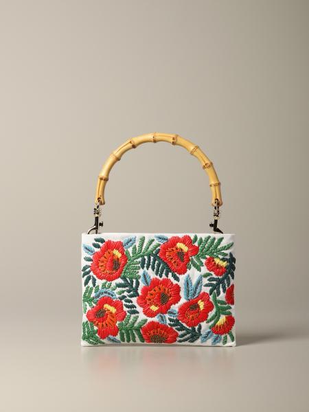 Miu Miu handbag with floral embroidery