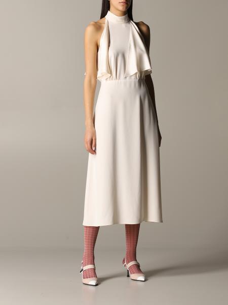 Prada Seiden Kleid mit Rüschen