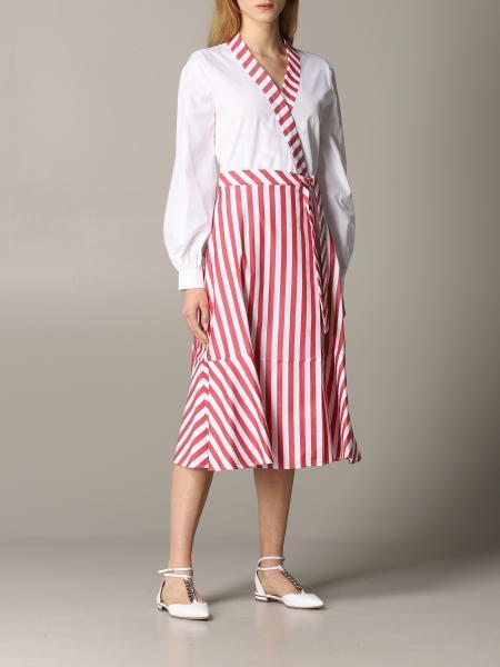 Robes robe en popeline stella jean avec jupe rayée Stella Jean - Giglio.com