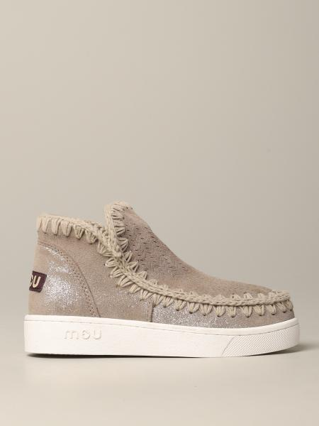 Sneakers eskimo low-cut Mou in suede lurex