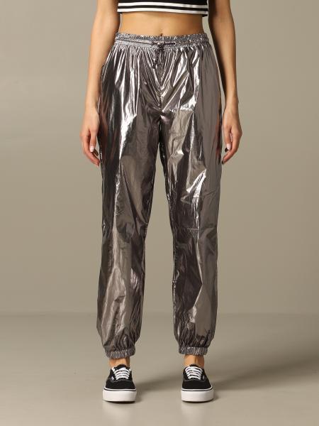 Pantalon de jogging Kendall + Kylie en tissu technique laminé
