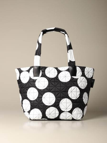 Borsa Dee Collective Berlin in nylon trapuntato a pois