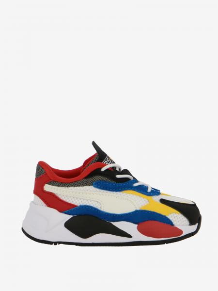 Sneakers Rs z puzzle Puma in suede pelle e mesh