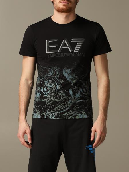 T-shirt EA7 con logo e stampa