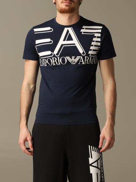 T-shirt EA7 a girocollo con stampa logo