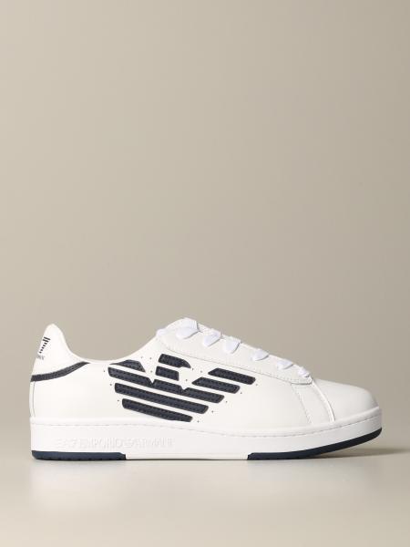 Sneakers EA7 in pelle con logo
