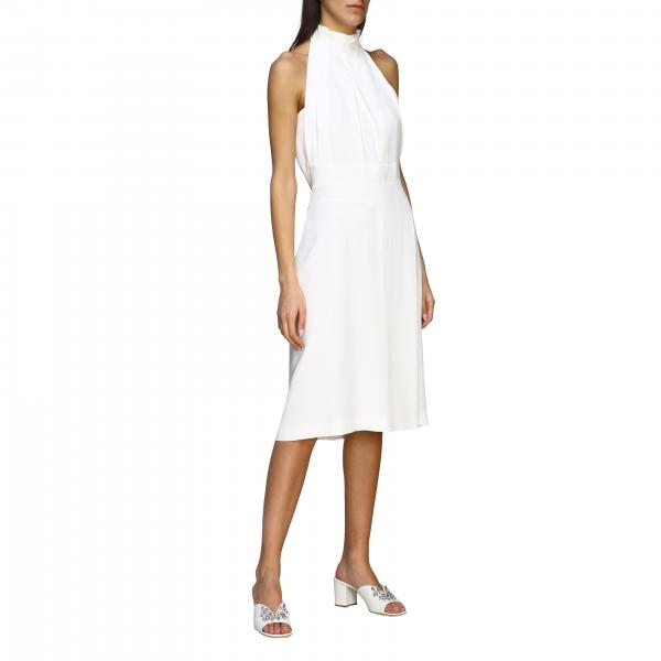 Alberta Ferretti midi dress with American neckline