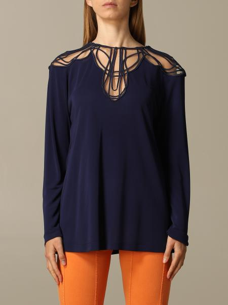 Alberta Ferretti top with embroidery